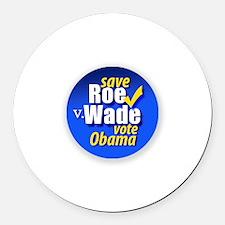 Save Roe v Wade, Obama-Biden Round Car Magnet