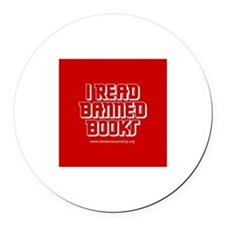 """Banned Books"" Round Car Magnet"