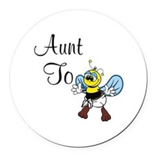 Aunt To Bee Round Car Magnet
