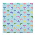 Colorful Camel Tile Coaster