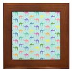 Colorful Camel Framed Tile
