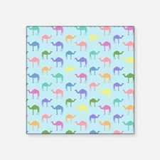 "Colorful Camel Square Sticker 3"" x 3"""