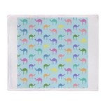Colorful Camel Throw Blanket