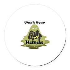 Wash Your Hands Round Car Magnet
