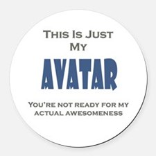 Avatar Round Car Magnet