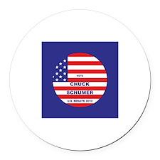 Chuck Schumer Round Car Magnet