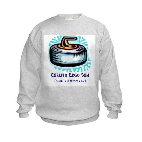 Curlito Ergo Sum Kids Sweatshirt