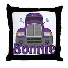 Trucker Bonnie Throw Pillow