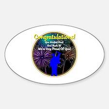 Graduation: 0003(b) Sticker (Oval)