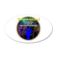 Graduation: 0003(b) 22x14 Oval Wall Peel