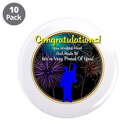 "Graduation: 0003(b) 3.5"" Button (10 pack)"