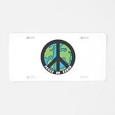 Peace on Earth. Aluminum License Plate