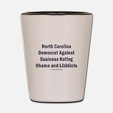 North Carolina Democrat Shot Glass