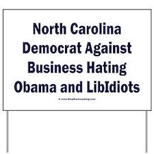 North Carolina Democrat Yard Sign