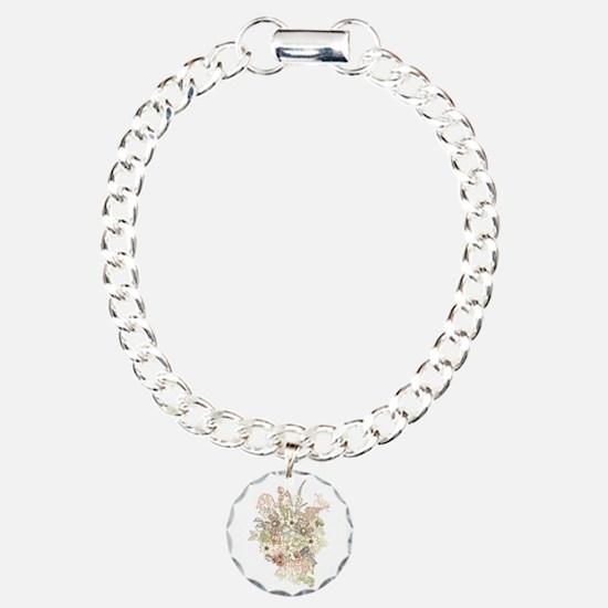Wildflower Bouquet Charm Bracelet, One Charm