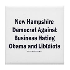 New Hampshire Democrat Tile Coaster
