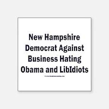 """New Hampshire Democrat Square Sticker 3"""" x 3"""""""