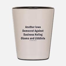 Iowa Democrat Shot Glass