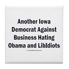 Iowa Democrat Tile Coaster