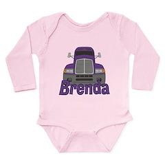 Trucker Brenda Long Sleeve Infant Bodysuit
