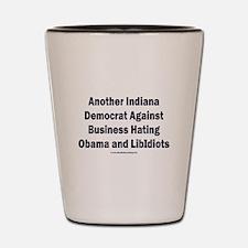 Indiana Democrat Shot Glass