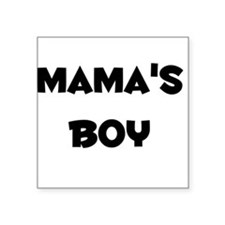 Mama's Boy Square Sticker