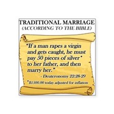 Traditional Marriage Square Sticker