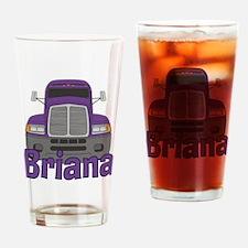 Trucker Briana Drinking Glass
