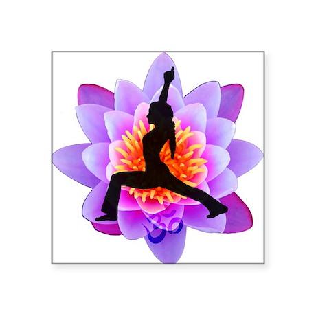 Lotus Yogini Square Sticker