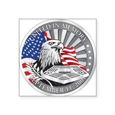 9/11 Square Sticker