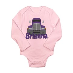 Trucker Brianna Long Sleeve Infant Bodysuit