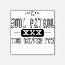 Soul Patrol Silver Fox Square Sticker