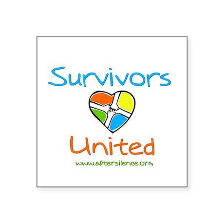 Survivors United Square Sticker