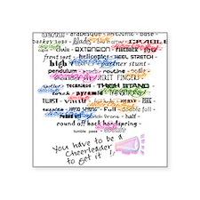 Words that DEFINE CHEERLEADING Square Sticker