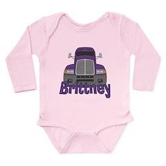 Trucker Brittney Long Sleeve Infant Bodysuit