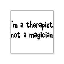 Men's Therapist Square Sticker
