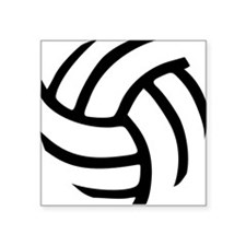 Volleyball Square Sticker