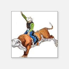 Bull Rider Square Sticker