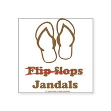 Jandal (Brown and White) Square Sticker