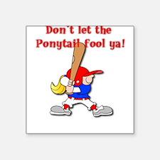 Ponytail Square Sticker