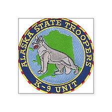 Alaska Trooper K9 Square Sticker