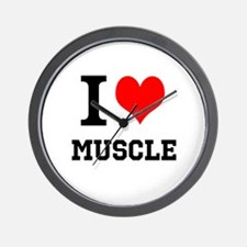 I Love Muscle Wall Clock