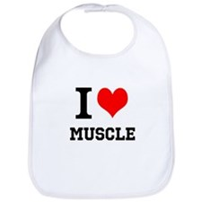 I Love Muscle Bib