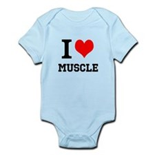 I Love Muscle Infant Bodysuit