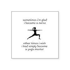 Nursing Yoga Master Square Sticker