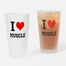I Love Muscle Drinking Glass