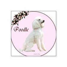 """""""Poodle in Pink"""" Square Sticker"""