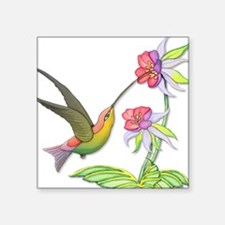 Hummingbird Flight Square Sticker