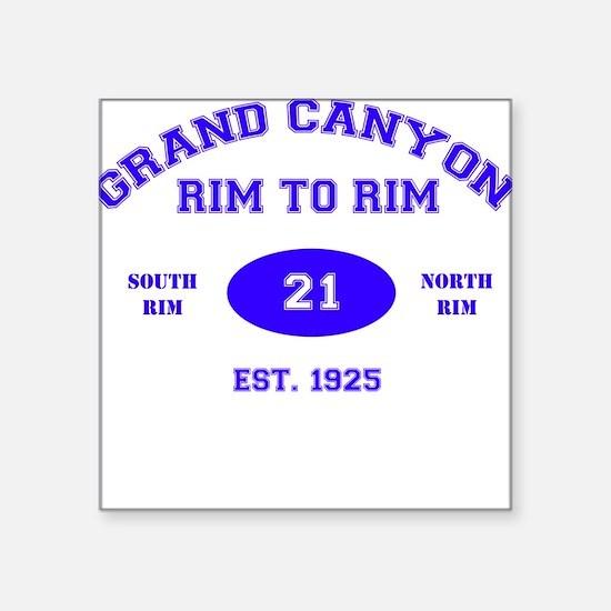 Grand Canyon Rim to Rim Square Sticker