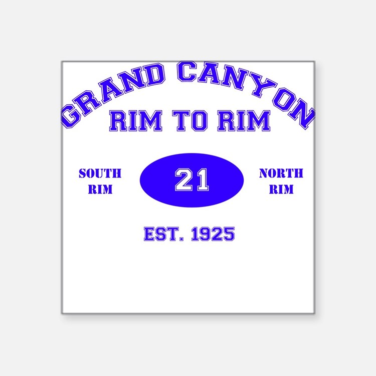 Grand Canyon Rim to Rim Square Sticker